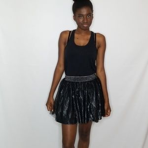 Decree Black and Silver Tulle Skirt